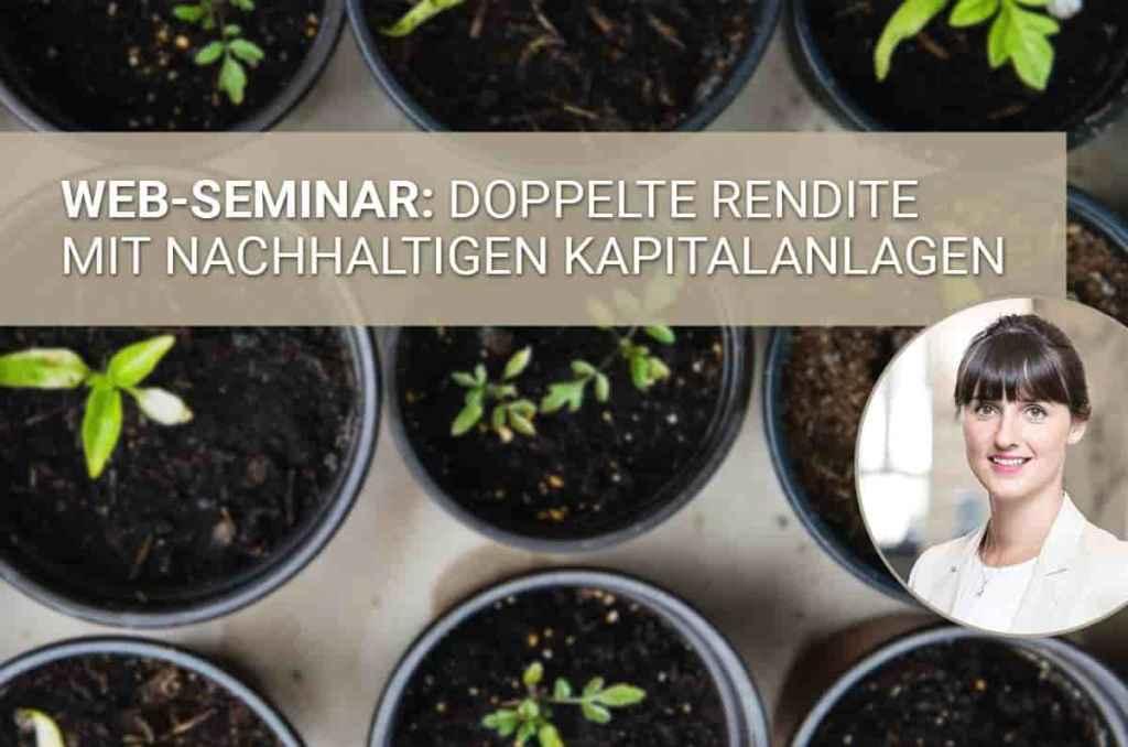 Webinar zum Thema Nachhaltigkeit