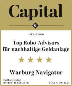 Top Robo-Advisors für nachhaltige Geldanlage: Warburg Navigator